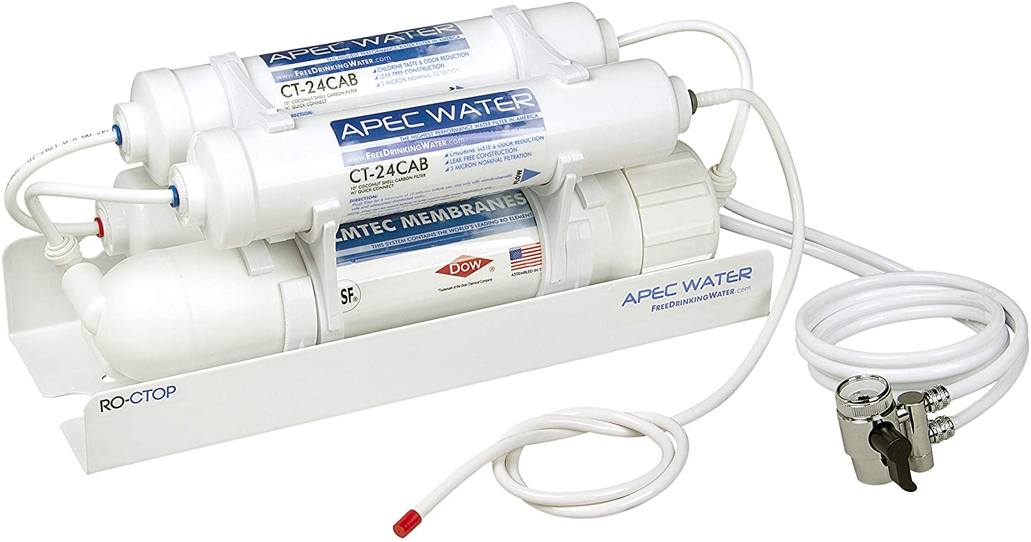 Made in USA 4 Stage Filtration Portable RO Reverse Osmosis Water Filter System 100 GPD
